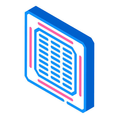 ceiling filter isometric icon vector illustration color