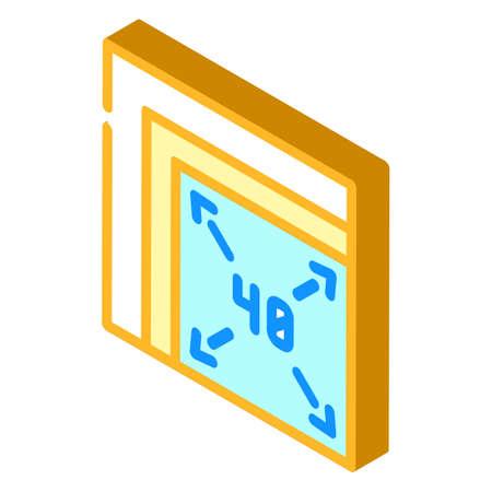 different sizes of napkins isometric icon vector illustration