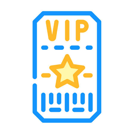 vip card of night club color icon vector illustration