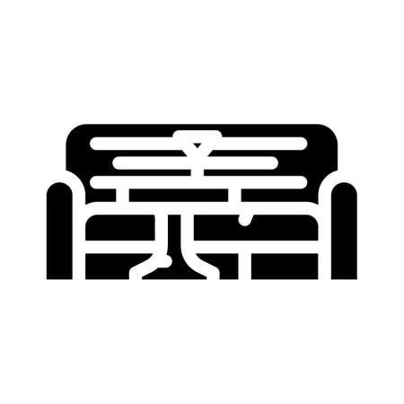 lounge area glyph icon vector illustration flat