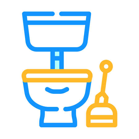 plumbing service color icon vector illustration line
