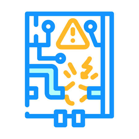 electrical networks repair color icon vector illustration