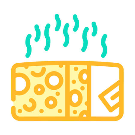 cheese smell color icon vector illustration line