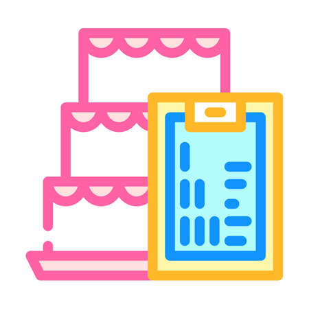 cooking courses color icon vector illustration line