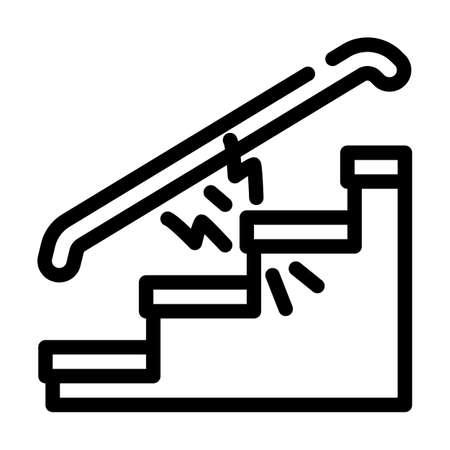 repair of steps hallways line icon vector illustration