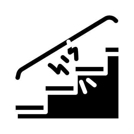 repair of steps hallways glyph icon vector illustration