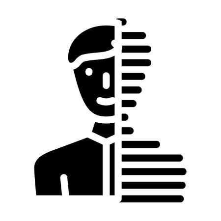digital portrait glyph icon vector illustration sign
