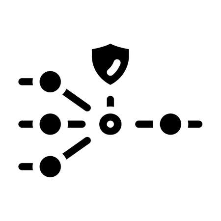 protection nodes glyph icon vector illustration sign