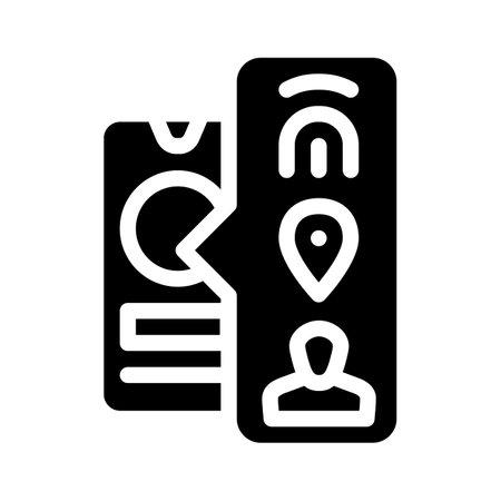 biometric data glyph icon vector illustration sign