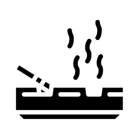 smoking smell glyph icon vector illustration sign