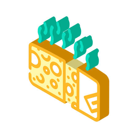 cheese smell isometric icon vector illustration sign
