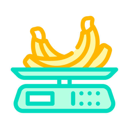 weighing food color icon vector. weighing food sign. isolated symbol illustration