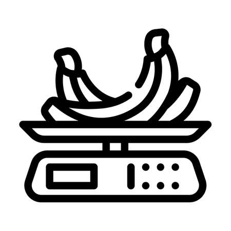 weighing food line icon vector. weighing food sign. isolated contour symbol black illustration