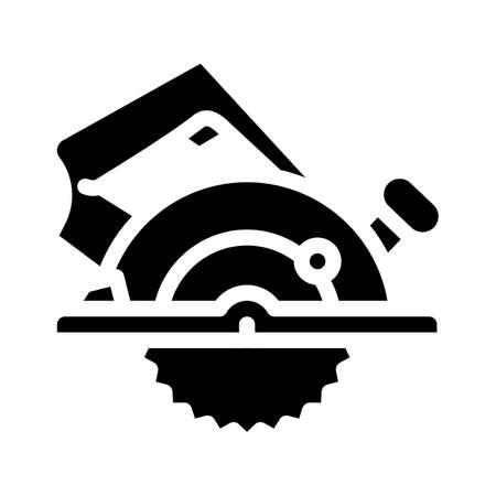 circular saw glyph icon vector. circular saw sign. isolated contour symbol black illustration