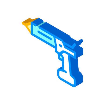 cordless sealant gun tool isometric icon vector. cordless sealant gun tool sign. isolated symbol illustration