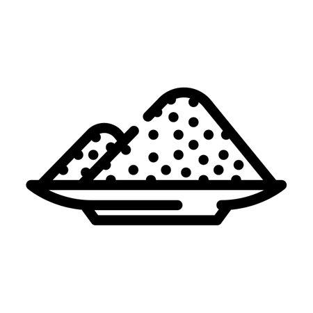 sodium nitrite line icon vector. sodium nitrite sign. isolated contour symbol black illustration