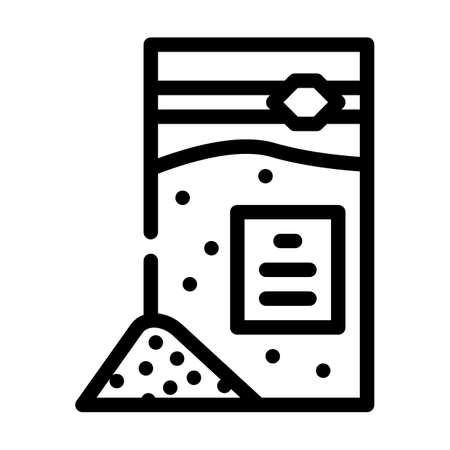 sodium benzoate line icon vector. sodium benzoate sign. isolated contour symbol black illustration