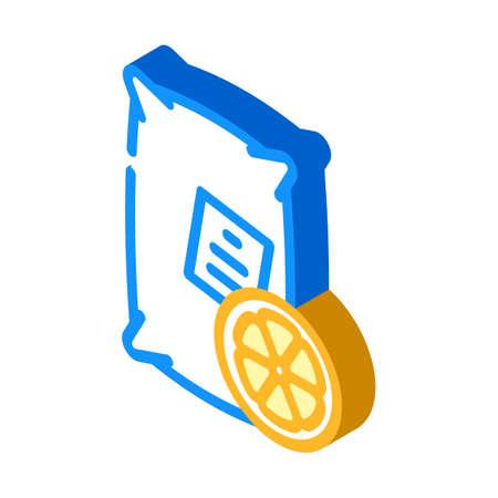 lemon acid isometric icon vector. lemon acid sign. isolated symbol illustration