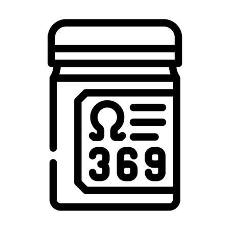 essential fatty acids, omega 369 line icon vector. essential fatty acids, omega 369 sign. isolated contour symbol black illustration