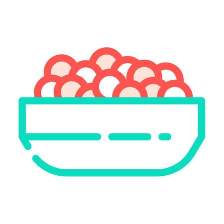 caviar fish color icon vector. caviar fish sign. isolated symbol illustration