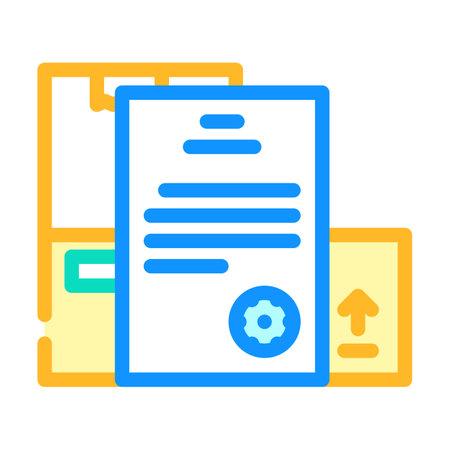 documentation wholesale color icon vector. documentation wholesale sign. isolated symbol illustration