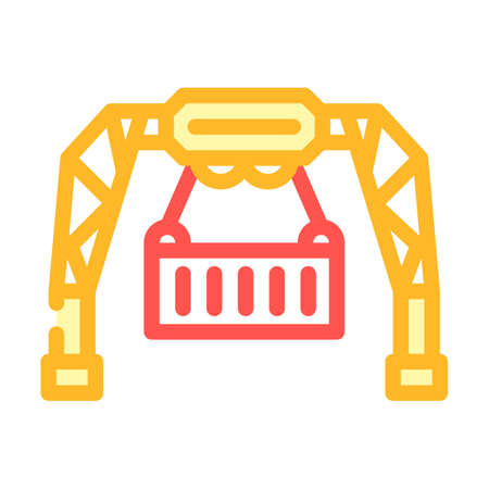 loading container wholesale color icon vector. loading container wholesale sign. isolated symbol illustration