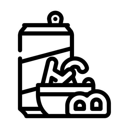 letter shaped cookies snack line icon vector. letter shaped cookies snack sign. isolated contour symbol black illustration