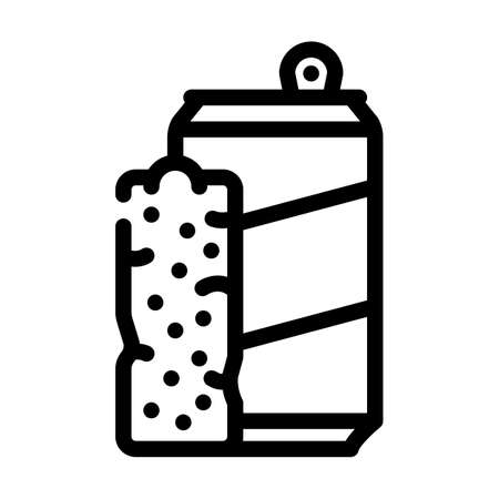 bars snack and drink container line icon vector. bars snack and drink container sign. isolated contour symbol black illustration