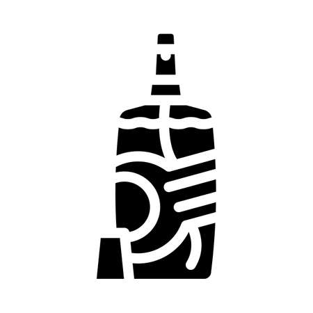 baby powder detergent glyph icon vector. baby powder detergent sign. isolated contour symbol black illustration