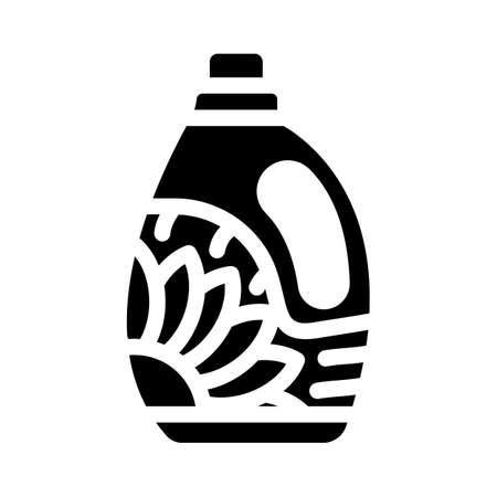 bottle detergent glyph icon vector. bottle detergent sign. isolated contour symbol black illustration