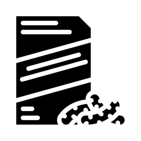 corn sticks snack glyph icon vector. corn sticks snack sign. isolated contour symbol black illustration