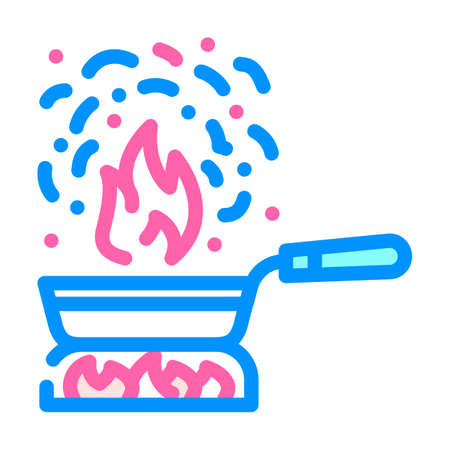 burnt food color icon vector. burnt food sign isolated symbol illustration