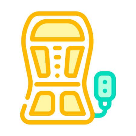 back stimulant color icon vector. back stimulant sign isolated symbol illustration