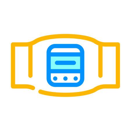 body electrical stimulator color icon vector. body electrical stimulator sign isolated symbol illustration
