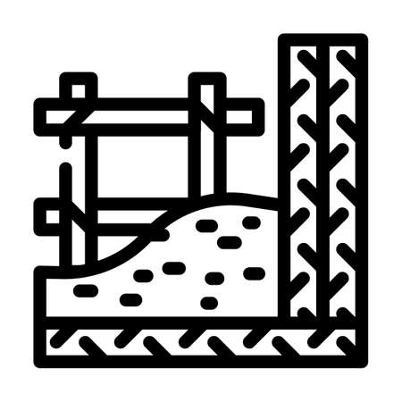 armature building material line icon vector. armature building material sign. isolated contour symbol black illustration