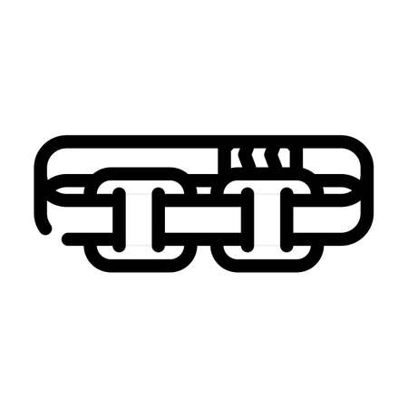stimulator with strap line icon vector. stimulator with strap sign. isolated contour symbol black illustration