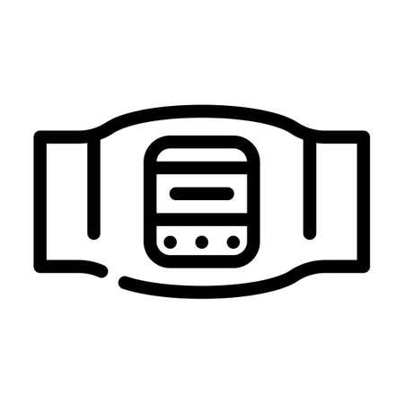 body electrical stimulator line icon vector. body electrical stimulator sign. isolated contour symbol black illustration Ilustración de vector