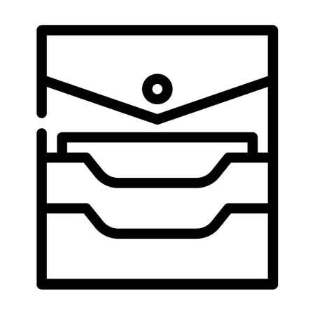 credit card storage pocket line icon vector. credit card storage pocket sign. isolated contour symbol black illustration