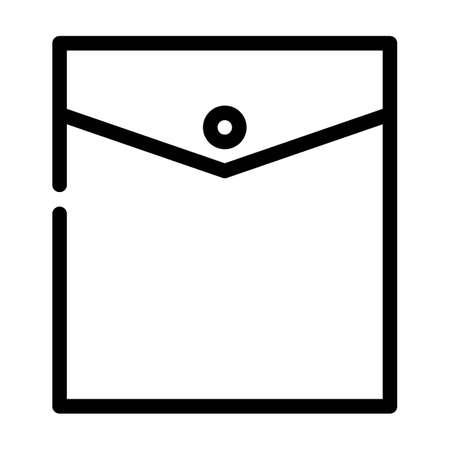 inside pocket line icon vector. inside pocket sign. isolated contour symbol black illustration