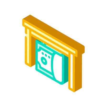 give bribe isometric icon vector. give bribe sign. isolated symbol illustration Ilustracje wektorowe