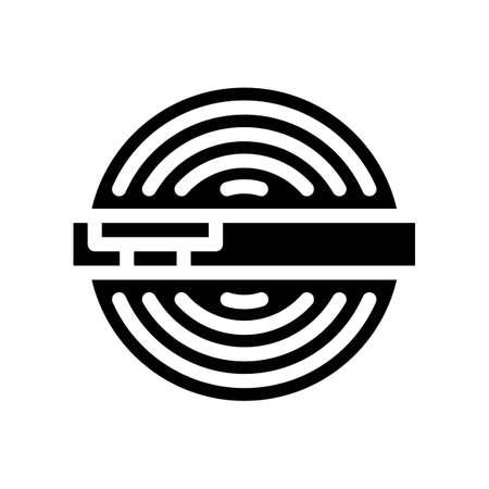 powder ball glyph icon vector. powder ball sign. isolated contour symbol black illustration