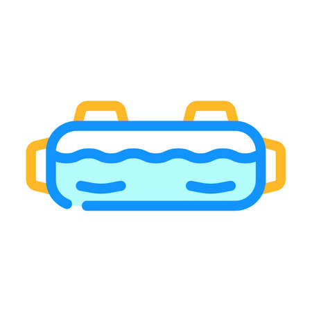 aqua bag gym equipment color icon vector. aqua bag gym equipment sign. isolated symbol illustration
