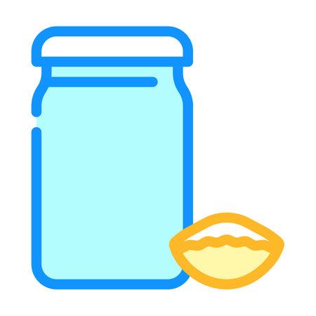 mini conchiglie rigate pasta color icon vector. mini conchiglie rigate pasta sign. isolated symbol illustration