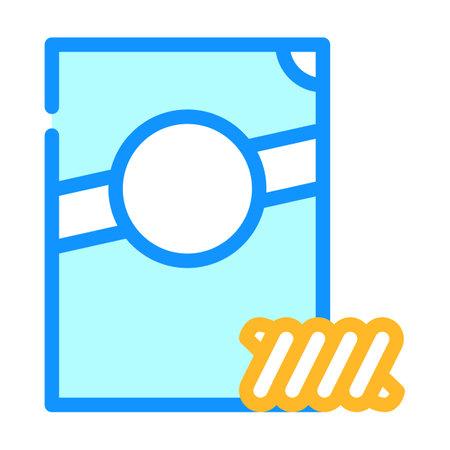 fusilli spirale pasta color icon vector. fusilli spirale pasta sign. isolated symbol illustration