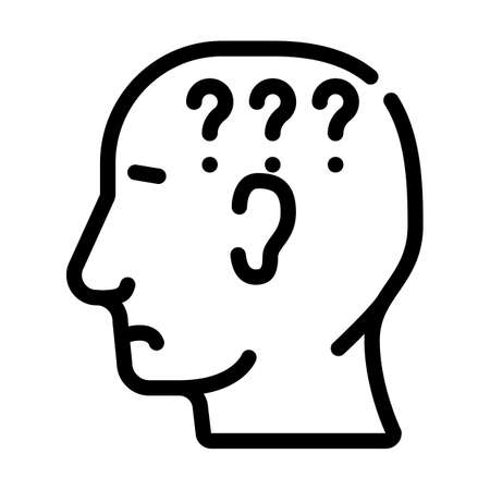 question neurosis line icon vector. question neurosis sign. isolated contour symbol black illustration