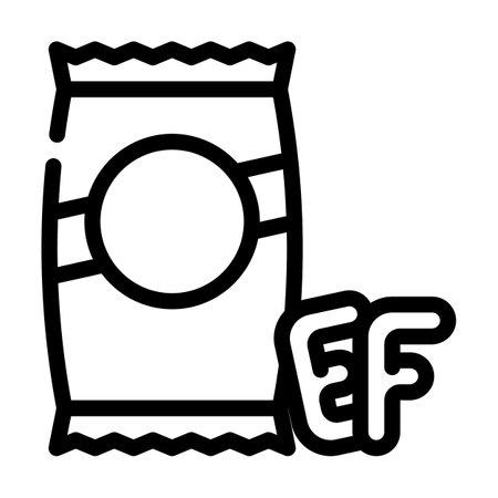 alphabet shape pasta line icon vector. alphabet shape pasta sign. isolated contour symbol black illustration Vettoriali