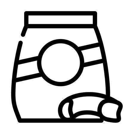 mista pasta line icon vector. mista pasta sign. isolated contour symbol black illustration Vettoriali