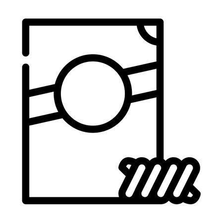 fusilli spirale pasta line icon vector. fusilli spirale pasta sign. isolated contour symbol black illustration