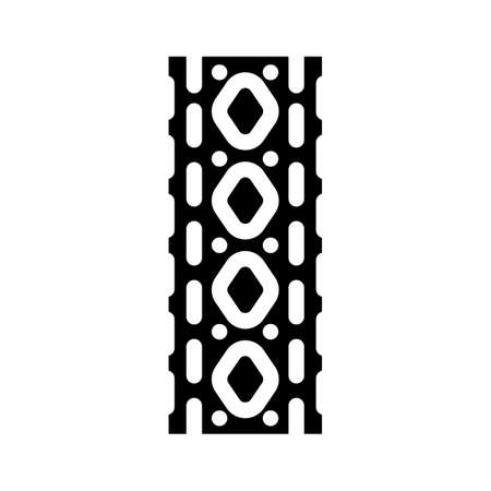 massage roll gym equipment glyph icon vector. massage roll gym equipment sign. isolated contour symbol black illustration