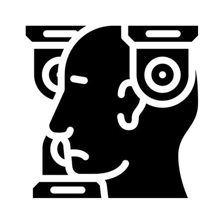 persecution mania problem glyph icon vector. persecution mania problem sign. isolated contour symbol black illustration